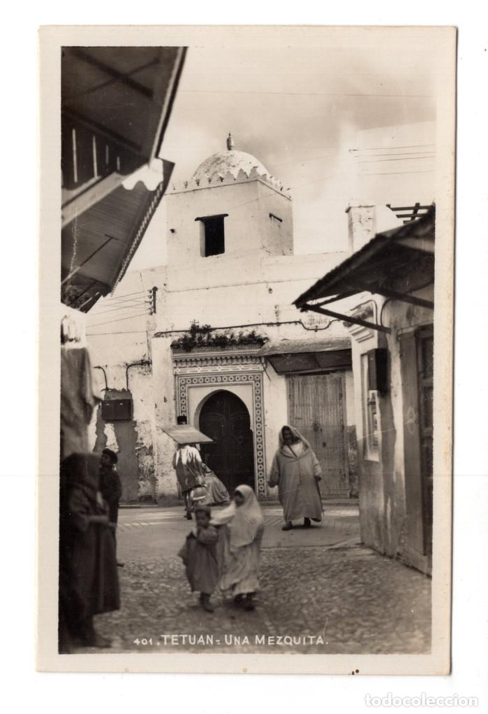 POSTAL FOTOGRÁFICA TETUAN, UNA MEZQUITA (Postales - Postales Temáticas - Ex Colonias y Protectorado Español)