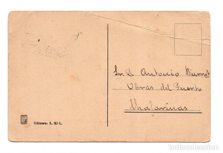 Postales: Tetuan Une rue. Matasello Giro Postal Cabo de Agua sobre sello de Protectorado español. - Foto 2 - 115520511