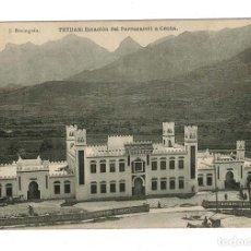 Postales: TETUAN. ESTACIÓN DEL FERROCARRIL A CEUTA. FOTOTIPIA DE HAUSER Y MENET. ED J. BERINGOLA.. Lote 116591507