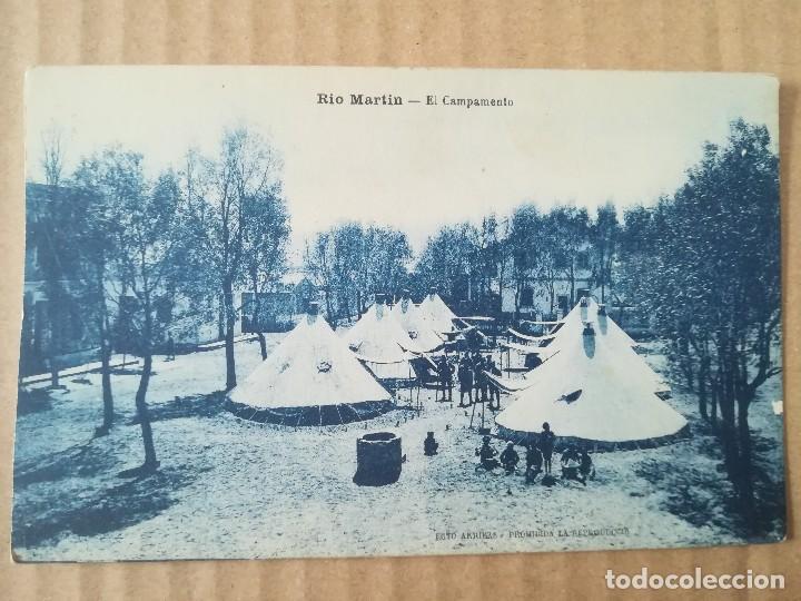 TARJETA POSTAL MARRUECOS CAMPAMENTO MILITAR RÍO MARTÍN EJÉRCITO ESPAÑOL (Postales - Postales Temáticas - Ex Colonias y Protectorado Español)