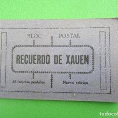 Postales: TACO DE 20 POSTALES , BLOC POSTAL , RECUERDO DE XAUEN , VER FOTOS DE TODAS. Lote 116919799
