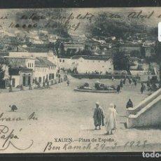 Postales: XAUEN - PLAZA DE ESPAÑA - TAMPÓN REGTO. DRAGONES DE NUMANCIA 11º DE CABALLERÍA - P25229. Lote 117643699