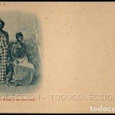 Postales: POSTAL FERNANDO POO TIPOS DE MENDI Y DE MONROVIA . THOMAS CA AÑO 1899 O ANTERIOR. Lote 119456211