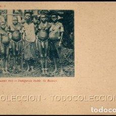 Postales: POSTAL FERNANDO POO INDIGENAS BUBIS DE BASOZO . THOMAS CA AÑO 1899 O ANTERIOR. Lote 119457099