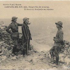 Postales: CAMPAÑA DEL RIF 1921 .- OCUPACION ATLATEN .- GENERAL SANJURJO EN ATLATEN .- EDI. POSTAL EXPRES. Lote 120101539
