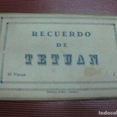 Postales: BLOC DE 10 POSTALES RECUERDO DE TETUAN. EDICIONES ARRIBAS ZARAGOZA.. Lote 120533155