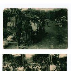 Cartes Postales: DOS POSTALES GUINEA ESPAÑOLA, EXPOSICIÓN IBERO AMERICANA, SEVILLA 1929. PABELLÓN COLONIAL. Lote 122346979