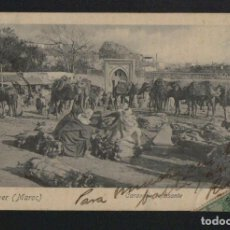 Postales: TANGER ( MAROC ). CARAVANE REPOSANTE.Nº 10.V.HELL.PHOTOGRAPHE.POSTÁL CIRCULADA EN 1902.. Lote 124558063