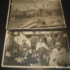 Postales: GUERRA DE TETUAN MARRUECOS ESPAÑOL 2 POSTALES FOTOGRAFICAS AÑOS 20. Lote 128621735