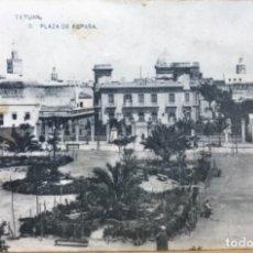 Postales: TETUÁN (PROTECTORADO ESPAÑOL EN MARRUECOS) - PLAZA DE ESPAÑA - HAUSER Y MENET. Lote 131798634