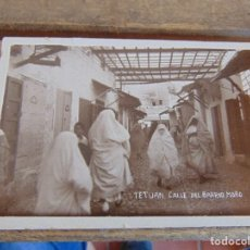 Postales: TARJETA POSTAL CIRCULADA AÑO 1934 TETUAN CALLE DEL BARRIO MORO. Lote 132986474