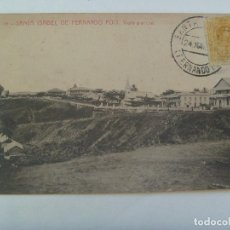 Postales: POSTAL DE SANTA ISABEL DE FERNANDO POO ( GUINEA ESPAÑOLA ) . CIRCULADA CON SELLO DE ALFONSO XIII . Lote 134061198