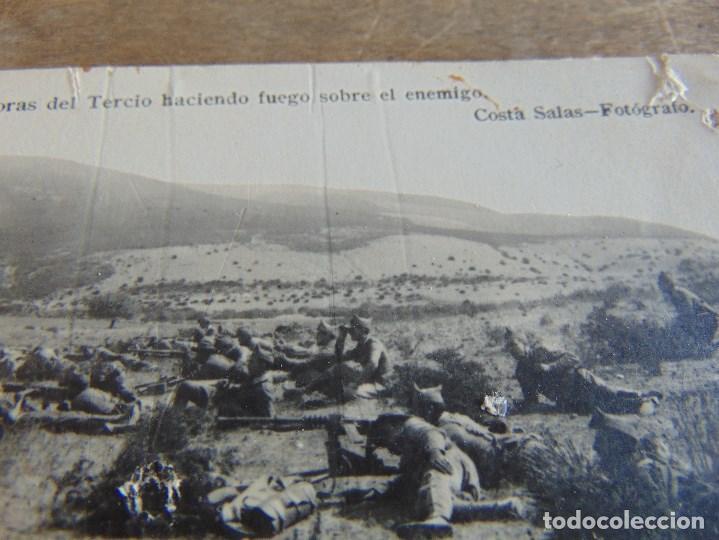 Postales: TARJETA POSTAL COLECCION ESTURILLO AMETRALLADORAS DEL TERCIO HACIENDO FUEGO SOBRE EL ENEMIGO COSTA - Foto 3 - 134369418