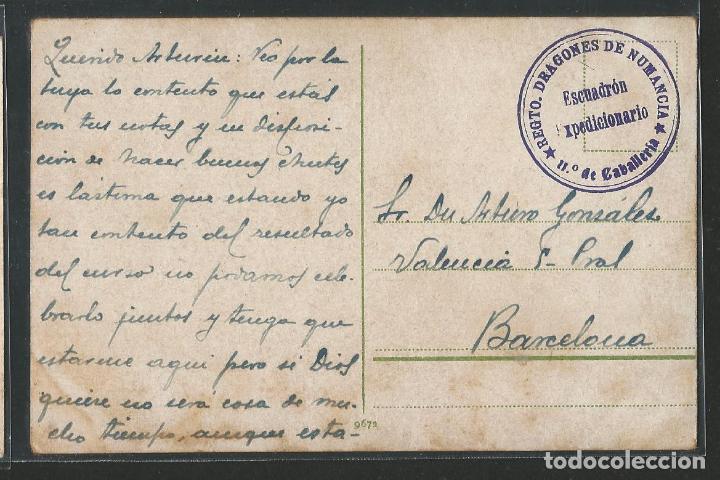 Postales: MARRUECOS / ARGELIA - SANTÓN DERVICHE - TAMPÓN REGIMIENTO DRAGONES DE NUMANCIA - P27473 - Foto 2 - 135429442