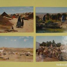 Postales: LOTE DE 4 TARJETAS POSTALES (1960'S) SAHARA ESPAÑOL ¡SIN CIRCULAR! ¡ORIGINALES!. Lote 137420754