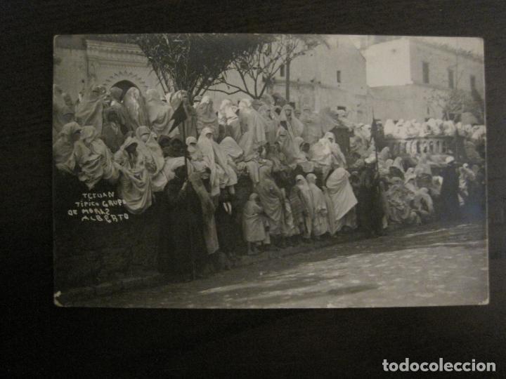 TETUAN - TIPICO GRUPO DE MORAS - FOTOGRAFICA ALBERTO - (53.709) (Postales - Postales Temáticas - Ex Colonias y Protectorado Español)