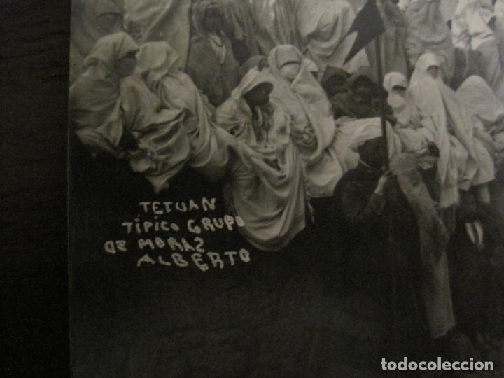 Postales: TETUAN - TIPICO GRUPO DE MORAS - FOTOGRAFICA ALBERTO - (53.709) - Foto 3 - 138281158