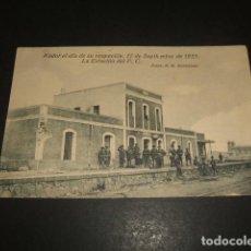 Postales: NADOR EL DIA DE SU OCUPACIÓN 17 DE SEPTIEMBRE DE 1921 LA ESTACION DEL FERROCARRIL. Lote 139126490