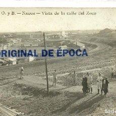 Postales: (PS-58545)POSTAL FOTOGRAFICA DE NADOR-VISTA DE LA CALLE DEL ZOCO.O. Y B... Lote 220879786