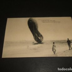 Postales: CAMPAÑA DEL RIF 1921 POSTAL GLOBO CAUTIVO QUE CAYÓ AL MAR. Lote 140483546