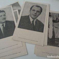 Postales: TETUAN. PROTECTORADO. RADIO DERSA. 1954. PUBLICIDAD RADIO IBERIA. LOTE 7 TARJETAS LOCUTORES. Lote 146972926