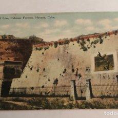 Postales: ANTIGUA POSTAL DE CUBA, LA HABANA, FORTALEZA CABANAS, CIRCULADA. Lote 147676633