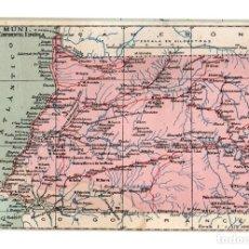 Postales: TARJETA POSTAL GUINEA CONTINENTAL ESPAÑOLA. Nº 68. ATLAS GEOGRAFICO DE ESPAÑA Y PORTUGAL. Lote 148010842