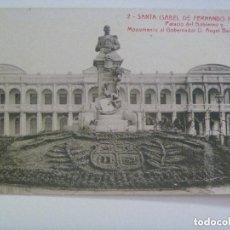 Postales: POSTAL DE SANTA ISABEL DE FERNANDO POO ( GUINEA ESPAÑOLA ): PALACIO DEL GOBIERNO Y MONUMENTO.. Lote 148249818