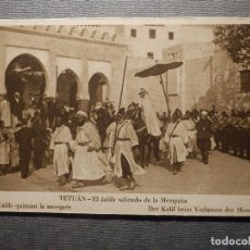 Postales: POSTAL - TETUAN - EL JALIFA SALIENDO DE LA MEZQUITA - M. ARRIBAS - NUEVA - SIN CIRCULAR . Lote 148396910