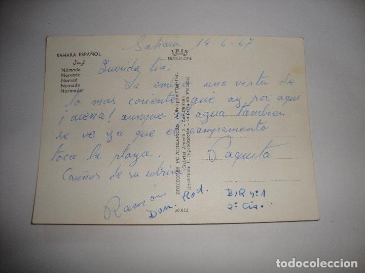 Postales: (ALB-TC-15) POSTAL SAHARA NOMADA ESCRITA - Foto 2 - 151785694