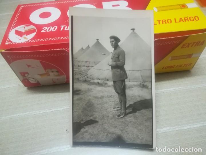 POSTAL MILITAR SOLDADO EN CAMPAMENTO DE SIDI IFNI AÑOS 30 MIREN FOTOS (Postales - Postales Temáticas - Ex Colonias y Protectorado Español)