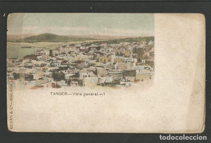TANGER-VISTA GENERAL-BEVAN & Cº-REVERSO SIN DIVIDIR-POSTAL ANTIGUA-(57.470) (Postales - Postales Temáticas - Ex Colonias y Protectorado Español)
