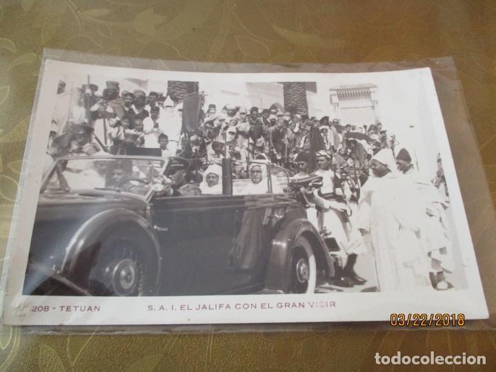 Postales: 208. TETUAN. S.A.I. EL CALIFA CON EL GRAN VISIR. POSTAL FOTOGRAFICA (SUPER ANIMADA) POSTAL9 X 14 CM. - Foto 3 - 156520166