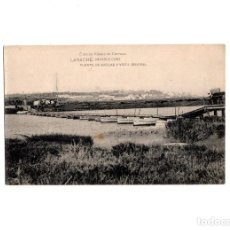 Postales: LARACHE.(MARRUECOS).- PUENTE DE BARCAS Y VISTA GENERAL.. Lote 156652154