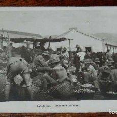 Postales: FOTO POSTAL DE DAR DRIUS, LA TROPA MONDANDO PATATAS, CAMPAÑA DEL RIF, ED. IMPER, NO CIRCULADA.. Lote 157693586