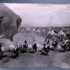 Postales: POSTAL MARRUECOS SCENES ET TYPES FANTASIA LA CIGOGNE CIRCULADA SELLO 1956. Lote 162593778