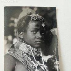 Postales: ANGOLA -TIPOS INDIGENAS- POSTAL GEVAERT 1950'S // COLONIAS PORTUGAL AFRICA NATIVE BUSTY NUDE GIRL . Lote 164232662