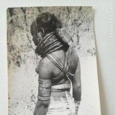 Postales: ANGOLA -TIPOS INDIGENAS 30-POSTAL GEVAERT 1950'S// COLONIAS PORTUGAL AFRICA NATIVE NUDE GIRL ETHNIC. Lote 164238570