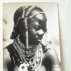 Postales: ANGOLA -TIPOS INDIGENAS -POSTAL FOTO SPORT 1950'S// COLONIAS PORTUGAL AFRICA NATIVE BUSTY NUDE GIRL. Lote 164239386