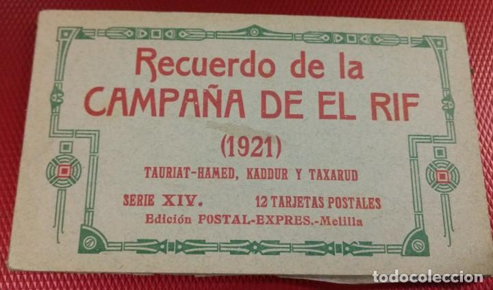 BLOCK RECUERDO DE LA CAMPAÑA DE EL RIF 1921 TAURIAT - HAMED, KADDUR Y TAXARUD SERIE XIV (Postales - Postales Temáticas - Ex Colonias y Protectorado Español)