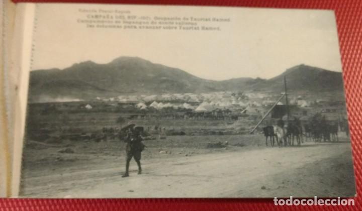 Postales: Block Recuerdo de la Campaña de el Rif 1921 Tauriat - Hamed, Kaddur y Taxarud Serie XIV - Foto 2 - 166601650