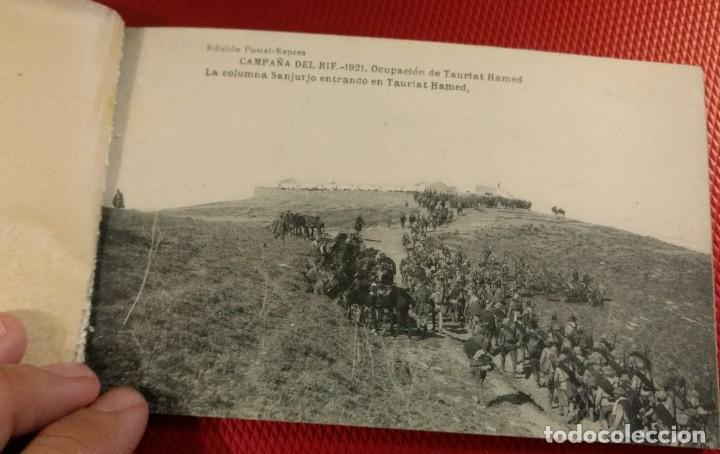 Postales: Block Recuerdo de la Campaña de el Rif 1921 Tauriat - Hamed, Kaddur y Taxarud Serie XIV - Foto 5 - 166601650