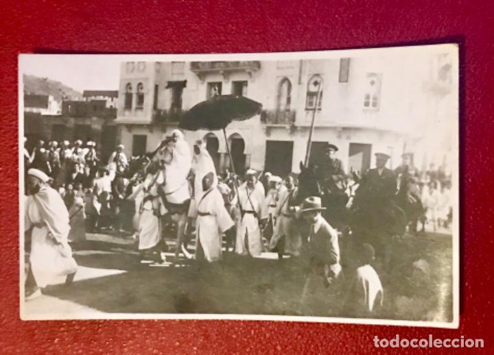 TETUÁN MARRUECOS AFRICA GUERRA IFNI PASCUA MORA SÉQUITO DEL JALIFA HALIFA GENERAL ESPAÑA FOT SIN CIR (Postales - Postales Temáticas - Ex Colonias y Protectorado Español)