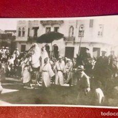 Postales: TETUÁN MARRUECOS AFRICA GUERRA IFNI PASCUA MORA SÉQUITO DEL JALIFA HALIFA GENERAL ESPAÑA FOT SIN CIR. Lote 166873380