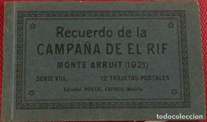 RECUERDO DE LA CAMPAÑA DEL RIF 1921, SERIE VIII MONTE ARRUIT. 10 POSTALES. POSTAL EXPRESS MELILLA. (Postales - Postales Temáticas - Ex Colonias y Protectorado Español)