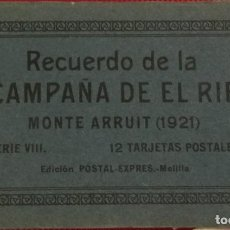 Postales: RECUERDO DE LA CAMPAÑA DEL RIF 1921, SERIE VIII MONTE ARRUIT. 10 POSTALES. POSTAL EXPRESS MELILLA.. Lote 166918860