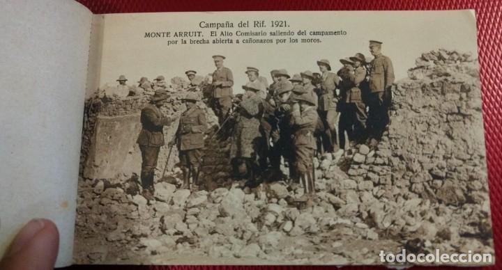 Postales: Recuerdo de la Campaña del Rif 1921, Serie VIII Monte Arruit. 10 postales. Postal Express Melilla. - Foto 2 - 166918860