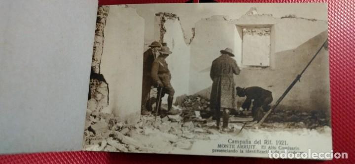 Postales: Recuerdo de la Campaña del Rif 1921, Serie VIII Monte Arruit. 10 postales. Postal Express Melilla. - Foto 3 - 166918860