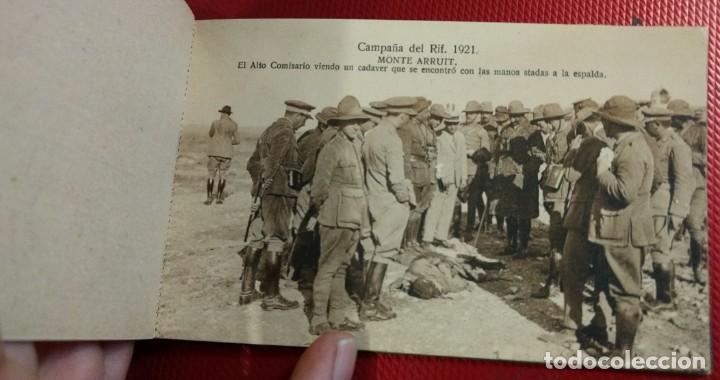 Postales: Recuerdo de la Campaña del Rif 1921, Serie VIII Monte Arruit. 10 postales. Postal Express Melilla. - Foto 4 - 166918860