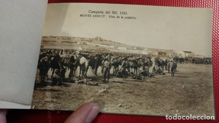 Postales: Recuerdo de la Campaña del Rif 1921, Serie VIII Monte Arruit. 10 postales. Postal Express Melilla. - Foto 5 - 166918860